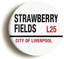 STRAWBERRY FIELDS L25 LIVERPOOL BADGE BUTTON PIN (1inch/25mm diameter) 1960s