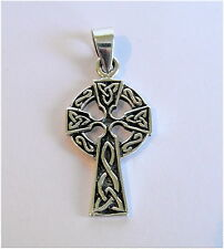 Sterling Silver (925) Celtic Cross Pendant ( 32 mm )   !!      Brand  New !