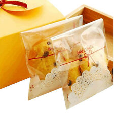 100Pcs Clear Cake Gift OPP Plastic Self Adhesive Seal Package Pastry Bag Newest