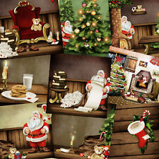 Holiday Backgrounds: Christmas v1. Digital Photo Backdrops Photoshop Templates