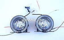 UNIVERSAL CLEAR ANGEL EYE LED DRL FOG SPOT DAY LIGHTS 75MM FOR VAUXHALL