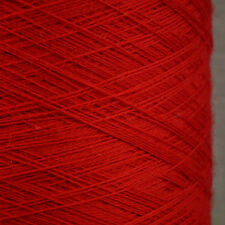 ZEGNA BARUFFA CASHWOOL PURE WOOL 2/30s CHILLI RED LACEWEIGHT COBWEB YARN 1 2 PLY