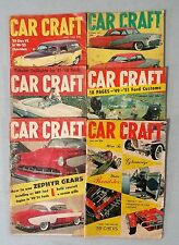 Vintage Car Craft Magazine 1956 - 1959 - Lot of 6 Complete  Issues - Hots Rods