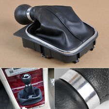5 SPEED BLACK GEAR SHIFT KNOB GAITOR BOOT MANUAL FOR VW GOLF 6 MK5 MK6 2005-2014