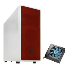 BITFENIX NEOS WHITE/RED ATX MATX MINI ITX USB 3.0 GAMING CASE WITH 850W PSU