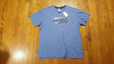 Tommy Hilfiger Velvet Textured Spell Out light blue t shirt LARGE Cotton NWT