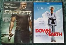 DOWN TO EARTH-Chris Rock and FASTER-Dwayne Johnson DVD's-Viewed Once!