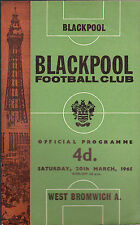 West Bromwich Albion at BLACKPOOL Official Programme 20 March 1965