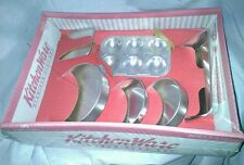 Dollhouse Miniature Kitchen Ware Aluminum Play Set Chilton Globe  NIP Cake Pans