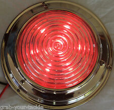 Dual colour LED Dome Light 12 volt Marine Stainless Steel red white 138 mm New
