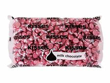 Hersheys Kisses Milk Chocolate Candy With Pink Foils 66.7oz For Valentines Gift