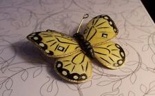 """VINTAGE Yellow Swallowtail Butterfly Unsigned Weiss Brooch Pin 2 1/2"""""""