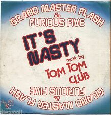 "GRAND MASTER FLASH & THE FURIOUS FIVE It's nasty VINYL 7"" 45 ITALY 1982 VG+/VG+"