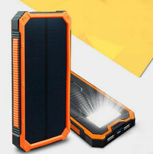 300000mAh Power Bank Waterproof Portable Solar Charger Dual USB Lamp Battery