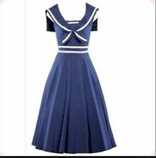 NWT! Stop Staring! Moda Fitted Sailor Swing Dress, Retro 1940's Style - Size XL
