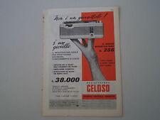 advertising Pubblicità 1959 REGISTRATORE GELOSO G 256