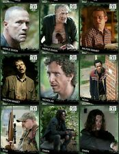 Topps The Walking Dead Green Base Full Complete x 92 cards(digit)