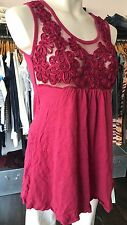 METALICUS WOOL MIX W639 ZAZA RUBY PINK PARADISE TANK TOP W SHEER TOP 1 size £115