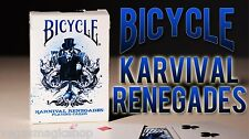 Karnival Renegades Blue Deck Bicycle Playing Cards Poker Size USPCC Limited New