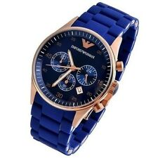 Emporio Armani Ar 5890/5806 Blue Sportivo Wrist Watch Limited Special Edition