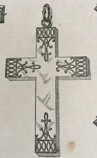 Rolled Gold Jewelry Engraving Cross Demorest's Magazine Overskirts