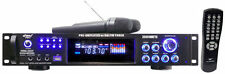 Pyle PWMA3003T 3000W Stereo AM/FM Receiver Amplifier w/ 2 Wireless Microphones