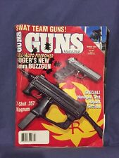 Guns Magazine March, 1994 with article about Ruger submachine gun
