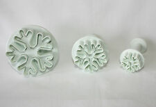 Plunger Cutters, Snowflakes, Set of 3, Sugarcraft, Cake Decorating, Christmas