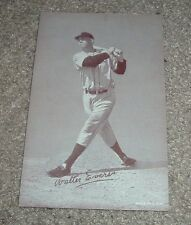 Vintage WALTER Hoot EVERS Exhibit Baseball Card Made in USA