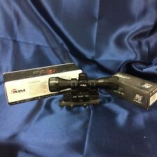 AIM Sports 4x32 Rangefinder Scope W/SKS Tri Rail Scope Mount Lifetime Warranty!