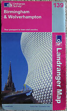 Ordnance Survey Landranger Map 139 Birmingham, Solihull & West Bromwich OS UK