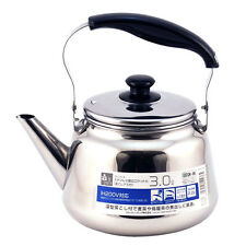 Japanese Stainless Steel Tea Pot Teapot Kettle w/ Chakoshi Strainer Ocha 3 Liter