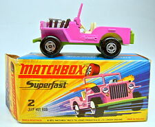 Matchbox SF Nr. 2B Jeep Hot Rod orchid/gelbgrün top in Box
