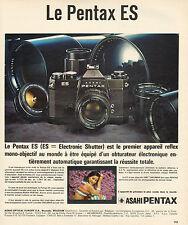 Publicité 1973  Appareil photo PENTAX ES reflex mono-objectif