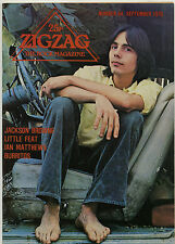 ZIGZAG No 64 September 1976 Jackson Browne Runaways Little Feat Flamin' Groovies