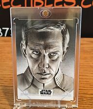 2016 Topps Star Wars Rogue One Sketch Card Director Krennic By JASON DAVIES
