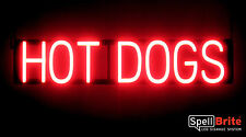SpellBrite Ultra-Bright HOT DOGS Sign Neon-LED Sign (Neon look, LED performance