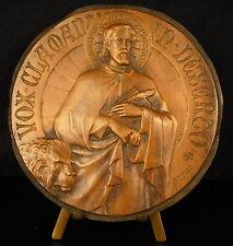 Medaille vox clamantis in deserto Saint Marc & le lion Sanctus Marcus 10cm medal