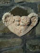 Architectural ornate plaster cherub angel wings wall decor plaques shabby chic
