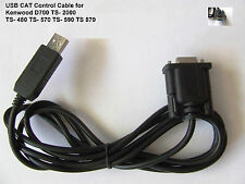 USB CAT Control Cable for Kenwood TS- 480 TS-570 TS-590 TS-870 TS-2000 TM-D2000