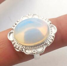 BEAUTIFUL JEWELRY OPALITE GEMSTONE 925 STERLING SILVER!!! PLATED RING