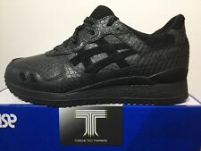 Asics Gel Lyte III ~ Triple Black ~ Mamba Pack ~ H52EK ~ Uk Size 7