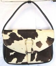 Vtg Mayorga Leather Cow Hair Hide Handbag Purse Satchel Western Cowgirl Rodeo