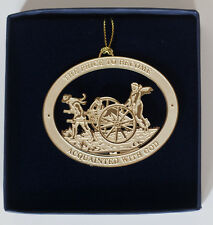Custom 3-D Pioneer Handcart Christmas Ornament- Cut Brass 24kt gold finish NIB