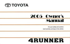 2005 Toyota 4Runner Owners Manual User Guide Reference Operator Book Fuses Fluid