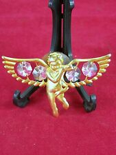 ANGEL CHERUB SUCTION ORNAMENT FOR GLASS OR MIRROR 1995 KG&C GOLD COLOR