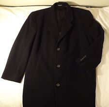 Tailors Row Wool & Cashmere Blend Overcoat  Trenchcoat - Black - Size 46R FS