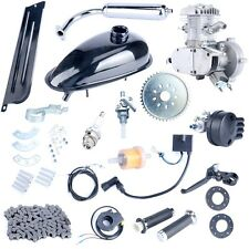 Motor Engine Kit Gas for Motorized Bicycle Bike Silver 80cc 2-Stroke