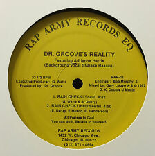 "Dr Groove's Reality/C-D2 Hardd Rain - Check/Bless The Man 12"" Randon IL Rap Army"
