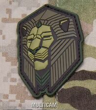 INDUSTRIAL LION MULTICAM TACTICAL COMBAT BADGE MORALE PVC MILITARY PATCH